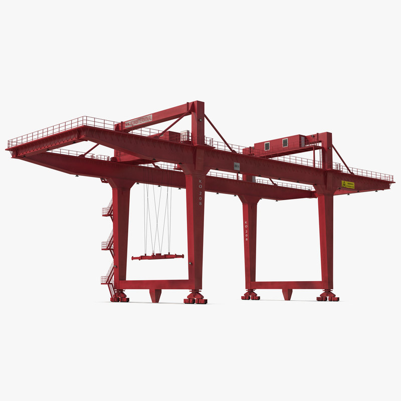 Rail Mounted Gantry Container Crane Rigged Red 3d model 00.jpg