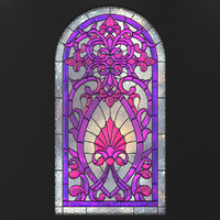 3d model stained glass arc 2