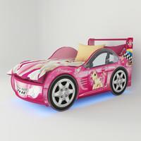 bed pink 3d model