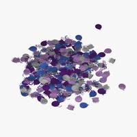 3d model confetti 2