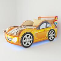 3d model bed orange