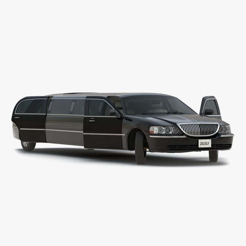 3d model of Generic Limousine Black Rigged 00.jpg