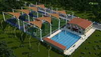 3D Exterior Design Rendering for Gaming Area