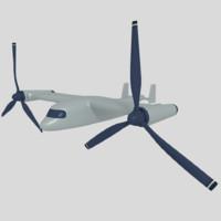 osprey vtol 3d model