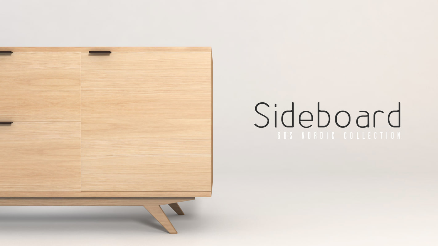 60 s sideboard 3d model for Sideboard 3d