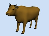 farm animal bull 3ds