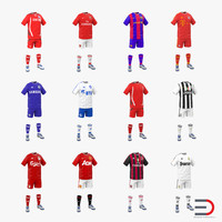 3d model soccer clothes