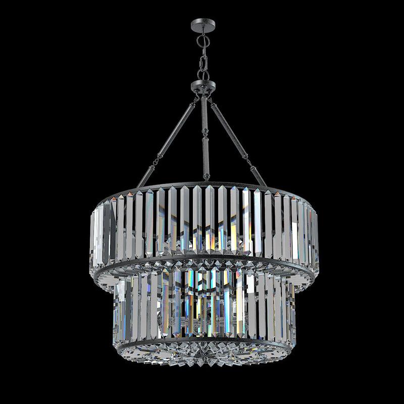 eichholtz infinity double Glass Ceiling Lamp pendant suspension clear art deco modern contemporary  s0001.jpg