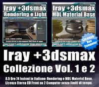 Iray + in 3dsmax 2016 Collezione 1 e 2 Cd Front