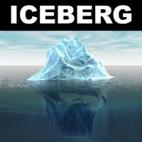 iceberg polar ocean c4d