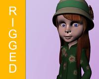 3d model sally character girl