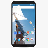 motorola nexus 6 midnight 3d model