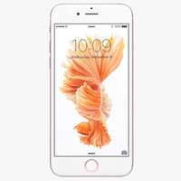 3d apple iphone 6s rose model
