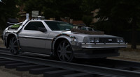 future delorean time machine 3d max