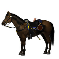 civil war horse saddle 3d model