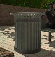trash parks streets 3d model