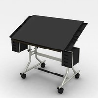 3d model drafting table modern
