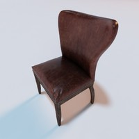 3d 1940s wingback chair