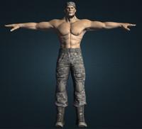 male mutant soldier obj
