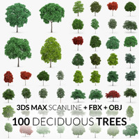 100 trees - scanline obj