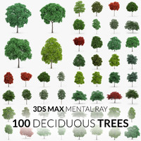 100 trees - 3d max