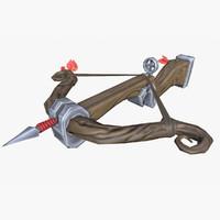 stylized xbow mobile obj
