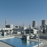 3d model of nuclear power plant