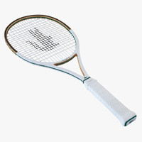 tennis racket lacost 3d model