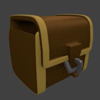 3d medieval bag model