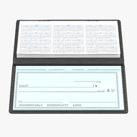 3d checkbook signature model