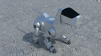 robot dog bot 3d model