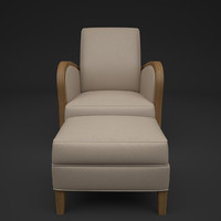 3d designer lounge chair model