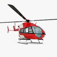 emergency eurocopter ec145 helicopter 3d 3ds