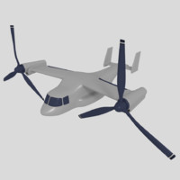 3d model of osprey vtol