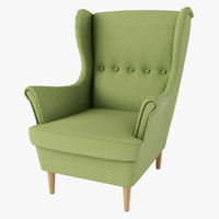 strandmon chair ikea green 3d max