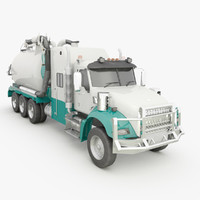 3d model of hydro excavation hydrovac truck