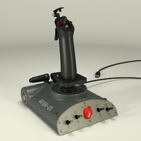 3d model saitek joystick