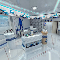 mobile phones interior scene 3d max