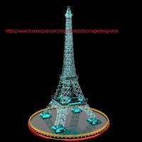 3d model eiffel tower ice sculpture