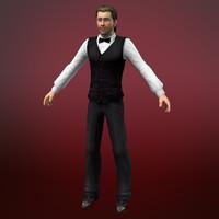 3d model card dealer