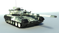 3d model t-80ud t-80u main battle tank