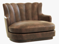 brabbu plum single sofa 3d obj