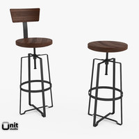 max adjusted industrial rustic stool