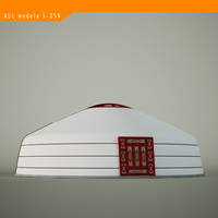 mongolian yurt mongol 3d model