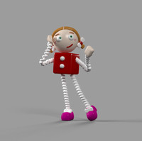 3d model toy girl animation