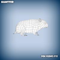 base mesh hamster 3d model