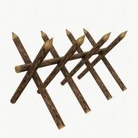 wooden barricade max