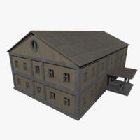3d factory building -