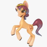 unicorn cartoon 3d 3ds
