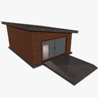 Garage Building - Low Poly